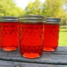 jam outside jelly jars green